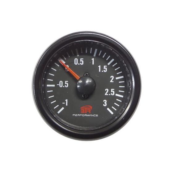ACT-RELOJ400 Reloj de medición de la presión del turbo BTR negro